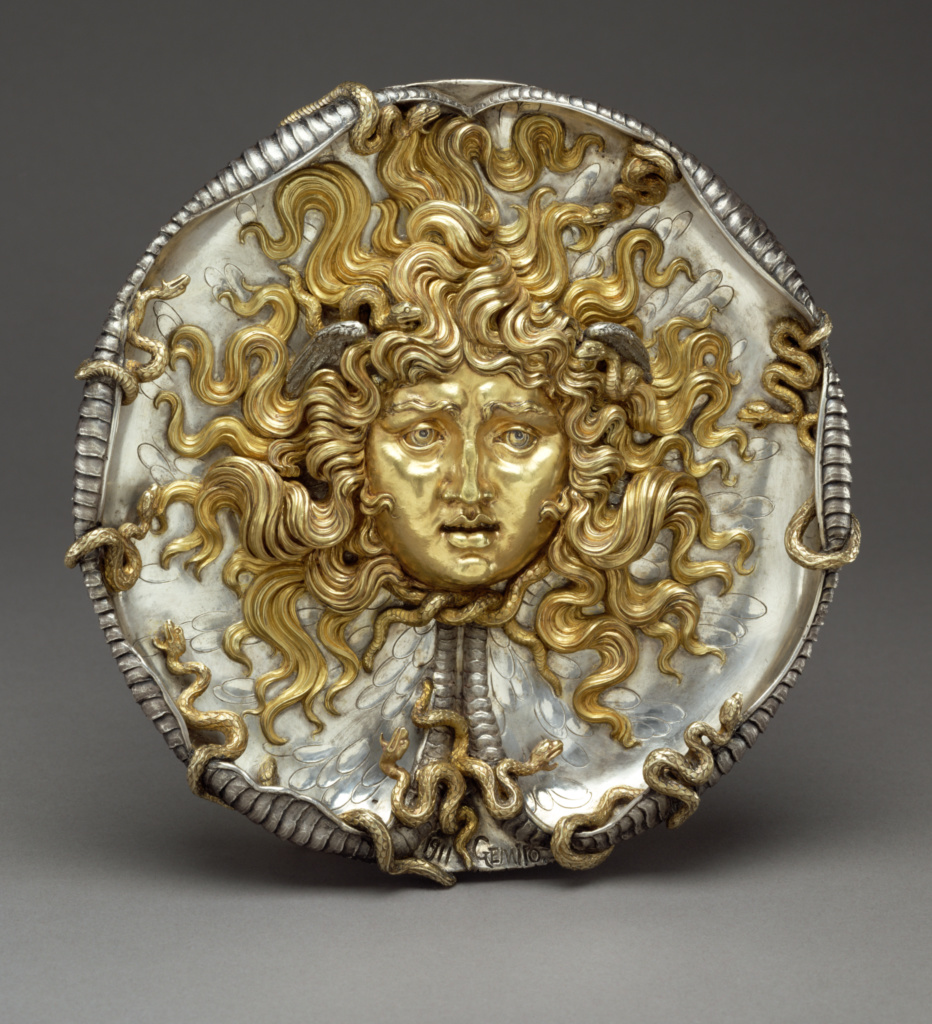 Medusa; Vincenzo Gemito (Italian, 1852 - 1929); Naples, Campania, Italy; 1911; Partially gilt silver; 23.5 cm (9 1/4 in.); 86.SE.528; The J. Paul Getty Museum, Los Angeles; Rights Statement: No Copyright - United States