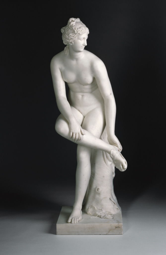 Venus; Joseph Nollekens (English, 1737 - 1823); England; 1773; Marble; 124 × 50.8 × 50.8 cm (48 13/16 × 20 × 20 in.); 87.SA.106; The J. Paul Getty Museum, Los Angeles; Rights Statement: No Copyright - United States