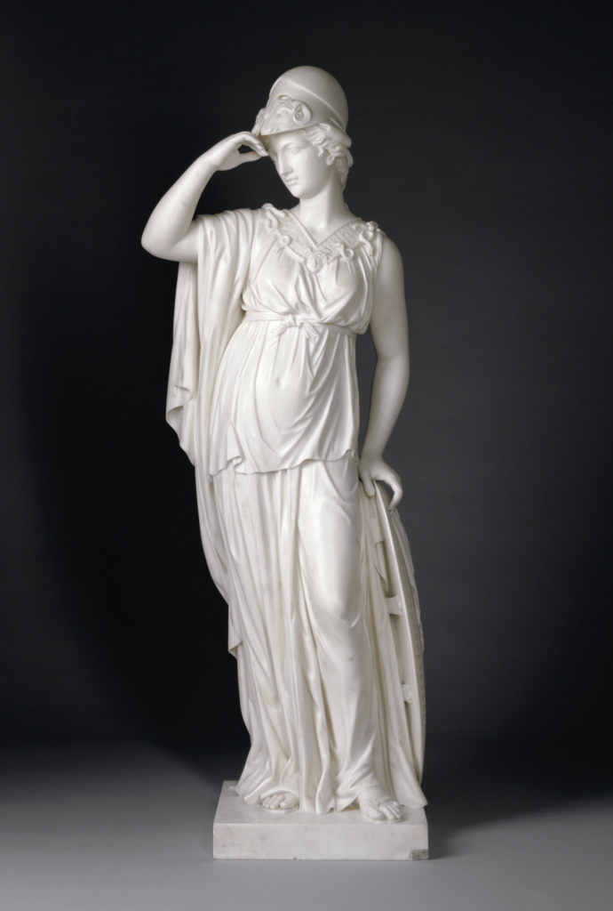 Minerva; Joseph Nollekens (English, 1737 - 1823); England; 1775; Marble; 144 cm (56 11/16 in.); 87.SA.107; The J. Paul Getty Museum, Los Angeles; Rights Statement: No Copyright - United States