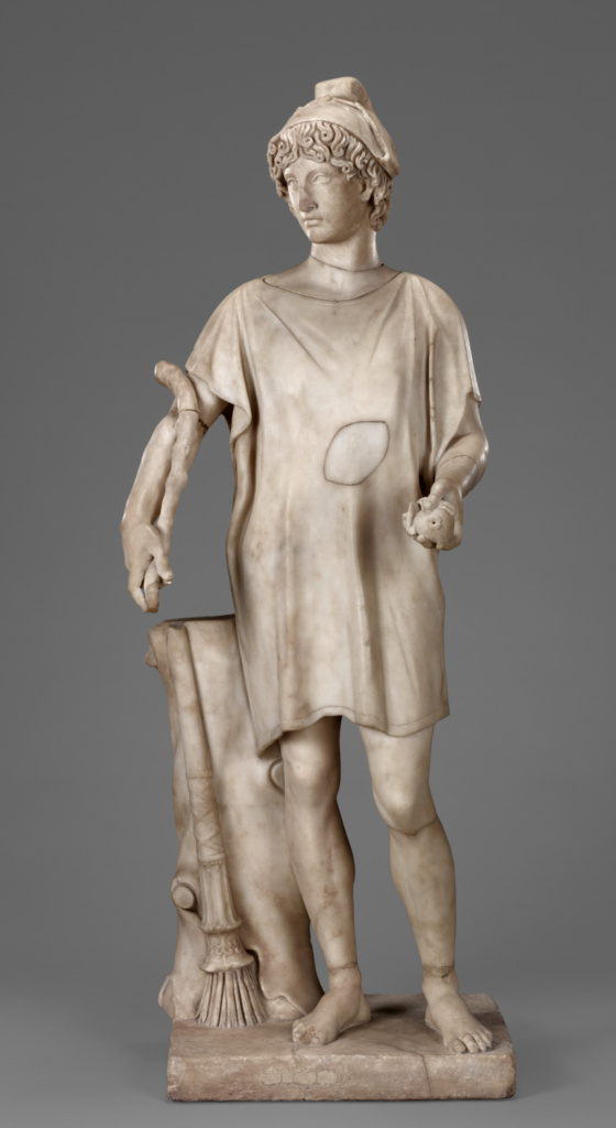 Paris; Unknown maker, Roman, and Unknown maker, Italian; Rome, Lazio, Italy; probably 100–200; and before 1767; Marble; 133 cm, 213.1906 kg (52 3/8 in., 470 lb.); 87.SA.109; The J. Paul Getty Museum, Los Angeles; Rights Statement: No Copyright - United States