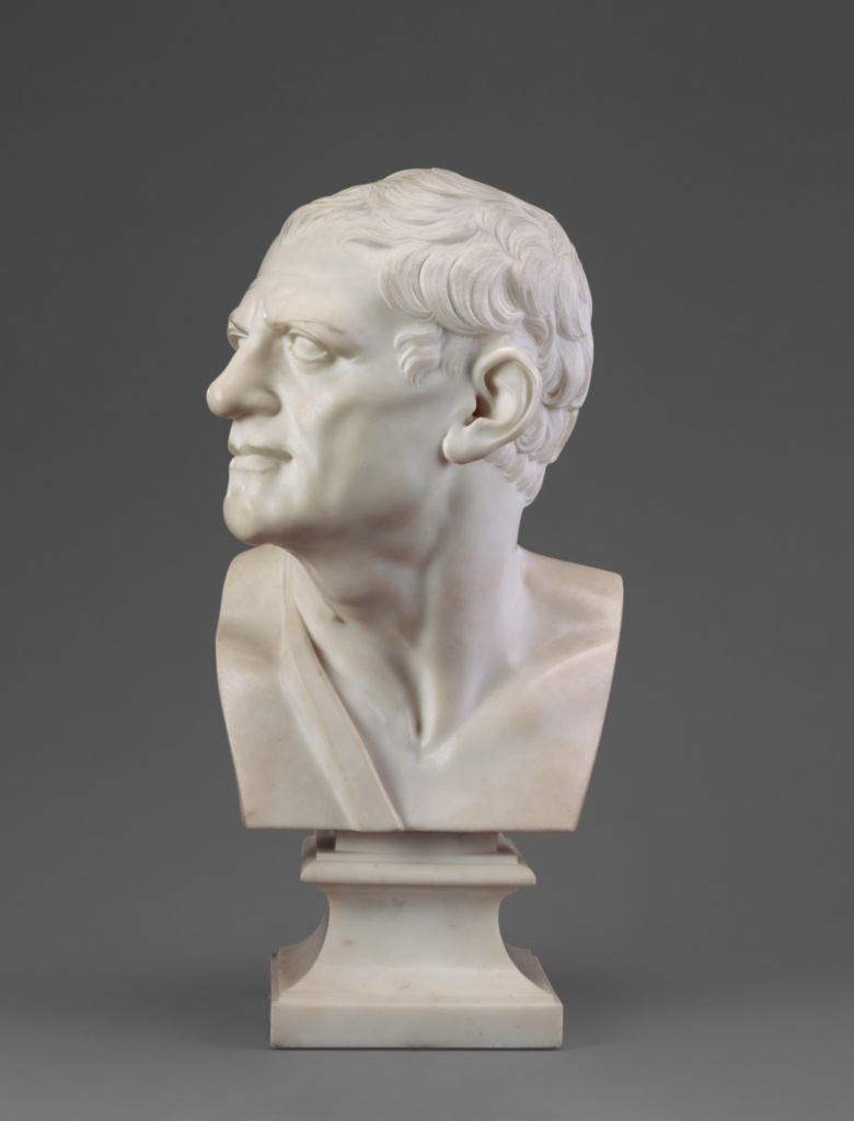 Bust of a Man (after the antique); Joseph Wilton (English, 1722 - 1803); England; 1758; Marble; 59.7 cm (23 1/2 in.); 87.SA.110; The J. Paul Getty Museum, Los Angeles; Rights Statement: No Copyright - United States