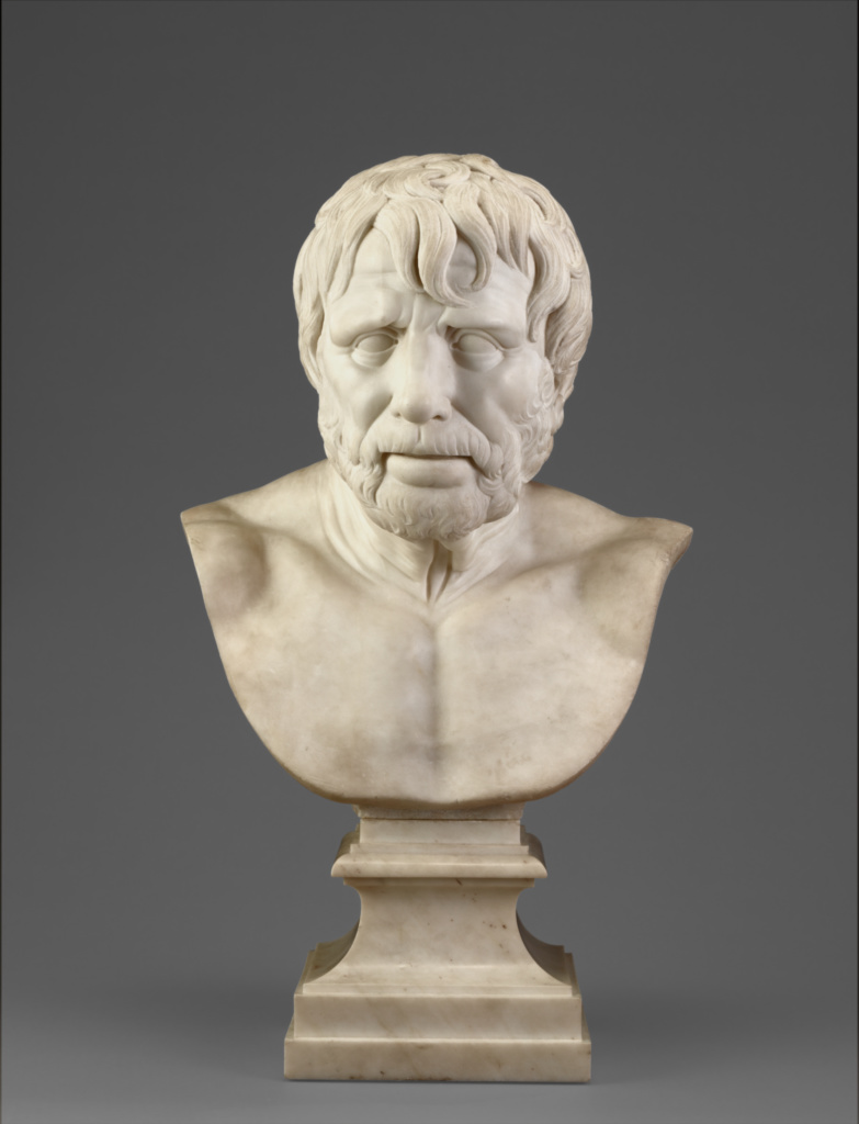 Bust of Pseudo-Seneca (after the antique); Joseph Wilton (English, 1722 - 1803); England; 1755–1765; Marble; 61 cm (24 in.); 87.SA.111; The J. Paul Getty Museum, Los Angeles; Rights Statement: No Copyright - United States
