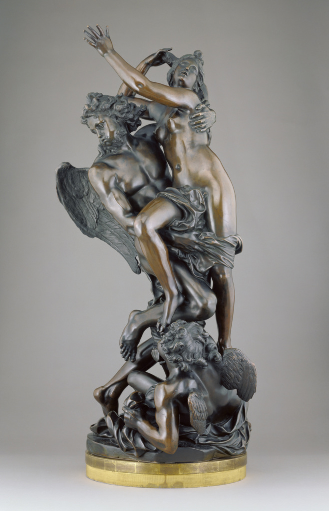 Boreas Abducting Orithyia; After a model by Gaspard Marsy (French, 1624 - 1681); Paris, France; cast 1693–1710; Bronze; 104.5 × 53.5 × 45 cm (41 1/8 × 21 1/16 × 17 11/16 in.); 88.SB.74; The J. Paul Getty Museum, Los Angeles; Rights Statement: No Copyright - United States