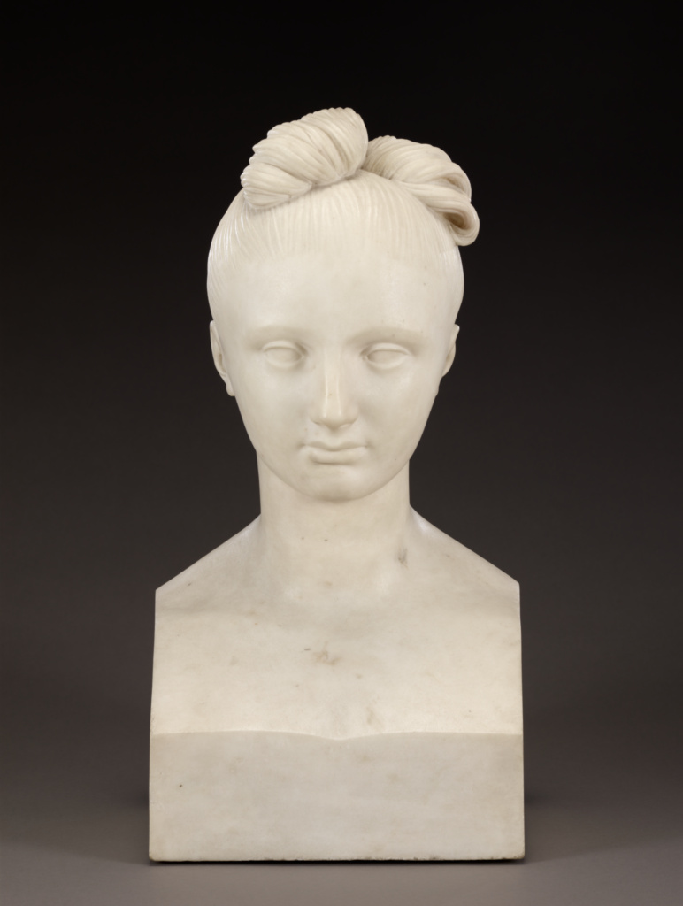 Bust of Mary Robinson; Pierre-Jean David d'Angers (French, 1788 - 1856); 1824; Marble; 46.4 cm (18 1/4 in.); 93.SA.56; Rights Statement: No Copyright - United States