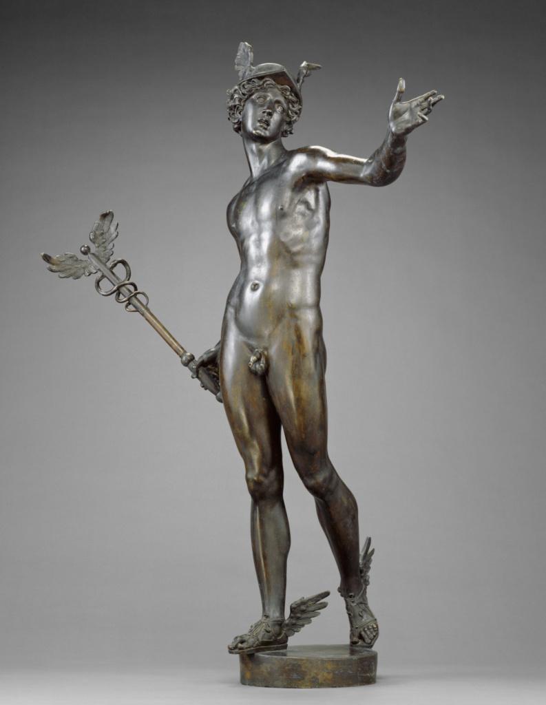 Mercury; Johann Gregor van der Schardt (Dutch, about 1530 - 1581); Netherlands; about 1570–1580; Bronze; 114.9 × 86.4 × 38.1 cm, 39.9165 kg (45 1/4 × 34 × 15 in., 88 lb.); 95.SB.8; The J. Paul Getty Museum, Los Angeles; Rights Statement: No Copyright - United States
