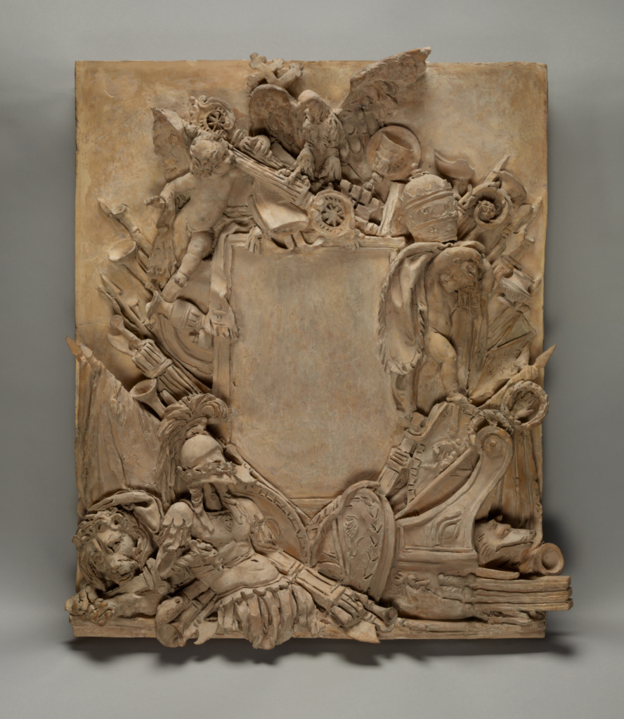 Sketch for a Fireplace Overmantel; Francesco Antonio Franzoni (Italian, 1734 - 1818); about 1789; Terracotta; 53.5 × 42.5 cm (21 1/16 × 16 3/4 in.); 95.SC.77; The J. Paul Getty Museum, Los Angeles; Rights Statement: No Copyright - United States