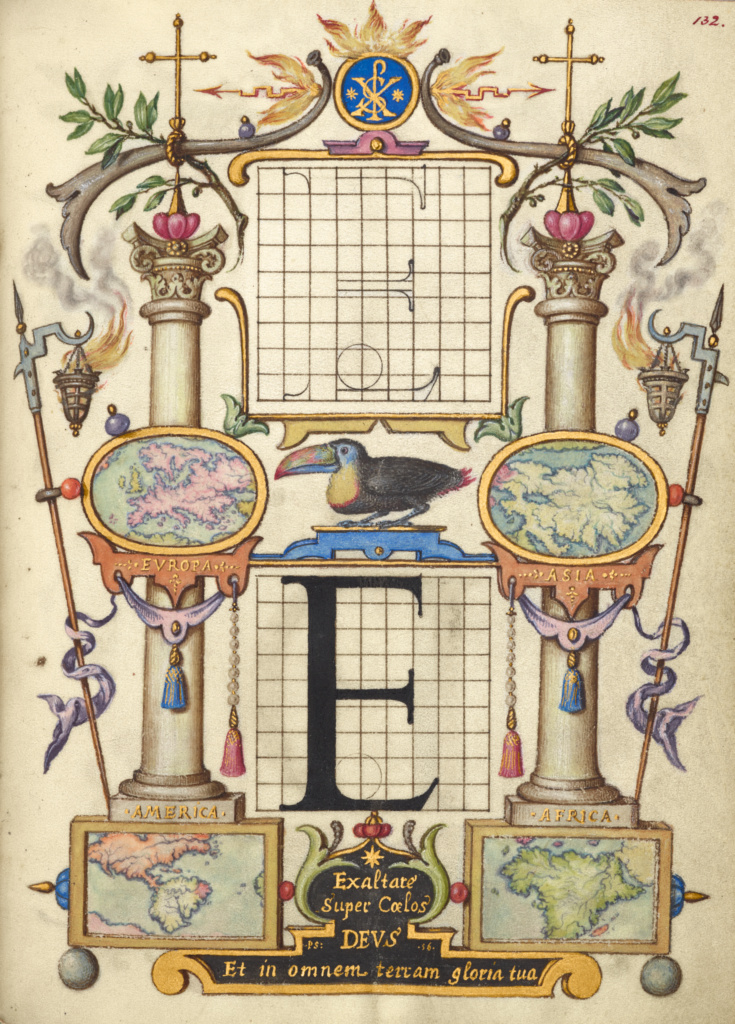 guide for constructing the letter e getty museum