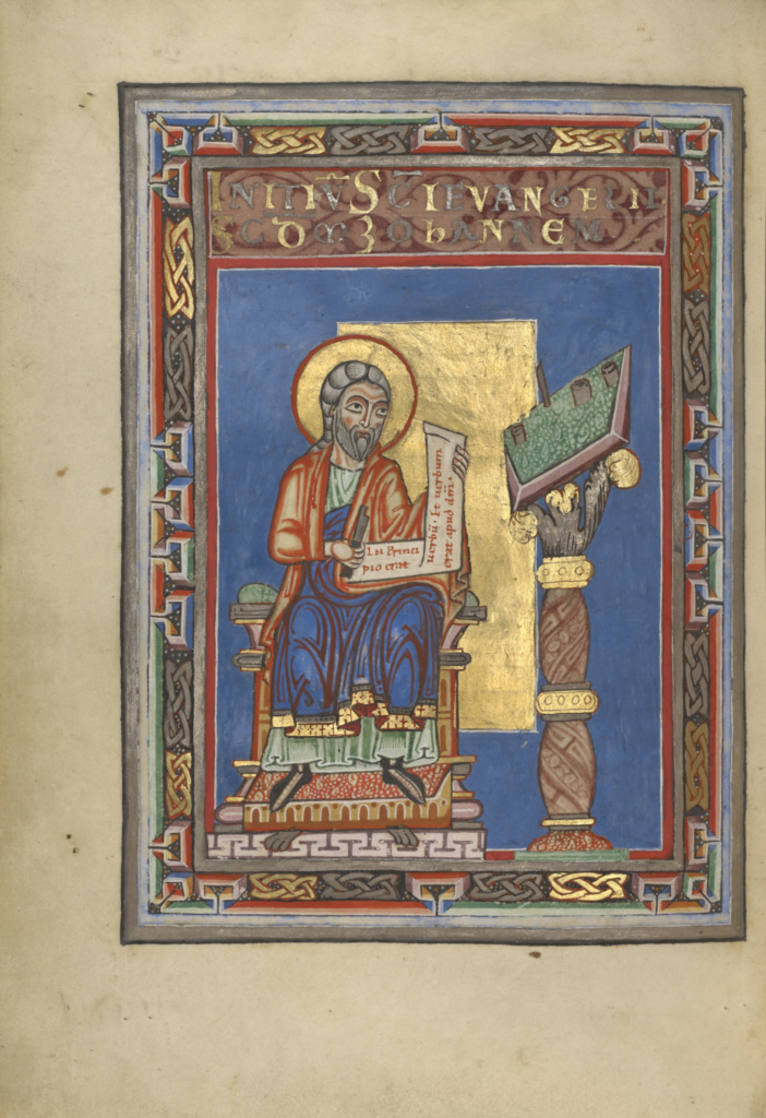 Gospel Book; Unknown; Helmarshausen, Germany; about 1120–1140; Tempera colors, gold, and silver on parchment bound between pasteboard covered with brown calf; Leaf: 22.9 × 16.5 cm (9 × 6 1/2 in.); Ms. Ludwig II 3 (83.MB.67); The J. Paul Getty Museum, Los Angeles, Ms. Ludwig II 3; Rights Statement: No Copyright - United States