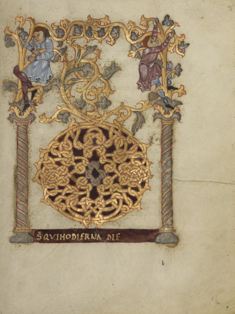 Sacramentary; Unknown; Beauvais (probably), France; first quarter of 11th century; Tempera colors, gold, silver, and ink on parchment bound between pasteboard covered with greenish-brown morocco; Leaf: 23.2 × 17.9 cm (9 1/8 × 7 1/16 in.); Ms. Ludwig V 1 (83.MF.76); The J. Paul Getty Museum, Los Angeles, Ms. Ludwig V 1; Rights Statement: No Copyright - United States