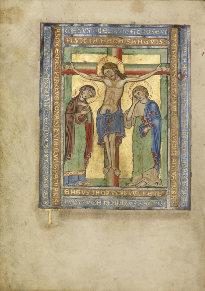 Missal; Unknown; Steinfeld, Germany; about 1180; Tempera colors, gold, silver, and ink on parchment bound between wood boards covered with brown calf; Leaf: 25.2 × 17.9 cm (9 15/16 × 7 1/16 in.); Ms. Ludwig V 4 (83.MG.79); The J. Paul Getty Museum, Los Angeles, Ms. Ludwig V 4; Rights Statement: No Copyright - United States