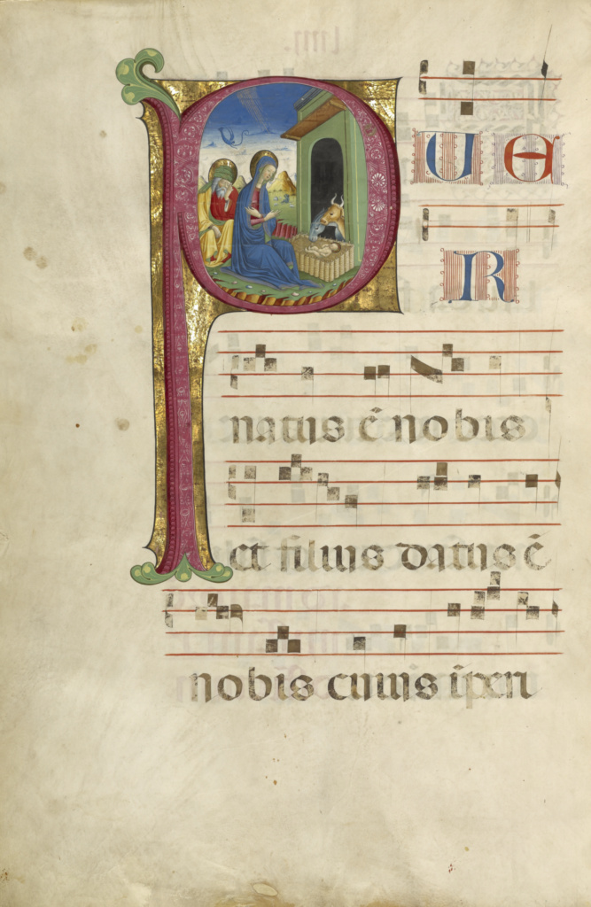 Gradual; Unknown; Northern Italy, Italy; about 1460–1480; Tempera colors, gold leaf, and ink on parchment bound between wood boards covered with brown morocco; Leaf: 60.3 × 44 cm (23 3/4 × 17 5/16 in.); Ms. Ludwig VI 2 (83.MH.85); The J. Paul Getty Museum, Los Angeles, Ms. Ludwig VI 2; Rights Statement: No Copyright - United States