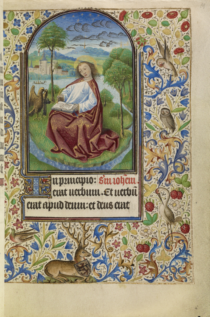 Book of Hours; Master of Jacques of Luxembourg (French, active about 1460 - 1470); Flanders (or), Belgium; about 1466–1470; Tempera colors, gold leaf, silver leaf, and ink; Leaf: 16.4 × 11.4 cm (6 7/16 × 4 1/2 in.); Ms. Ludwig IX 11 (83.ML.107); The J. Paul Getty Museum, Los Angeles, Ms. Ludwig IX 11; Rights Statement: No Copyright - United States
