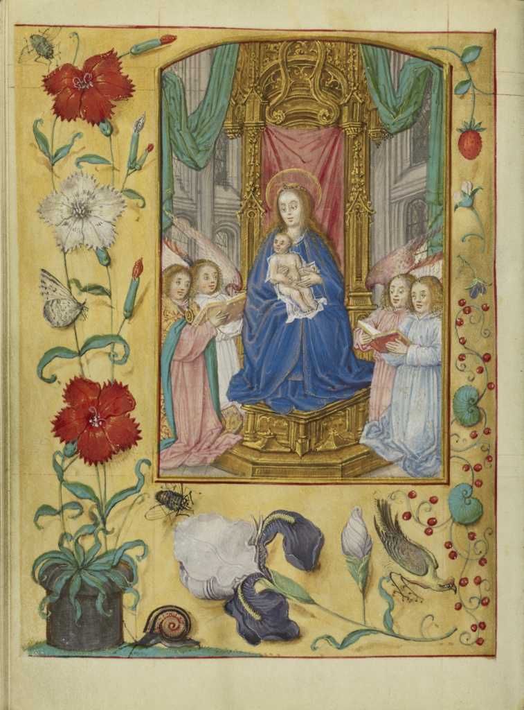 Book of Hours; Workshop of Gerard Horenbout (Flemish, 1465 - 1541); Cologne (written), Germany; about 1500; Tempera colors and gold paint on parchment bound between pasteboard covered with modern white parchment; Leaf: 15.2 × 11.1 cm (6 × 4 3/8 in.); Ms. Ludwig IX 17 (83.ML.113); The J. Paul Getty Museum, Los Angeles, Ms. Ludwig IX 17; Rights Statement: No Copyright - United States