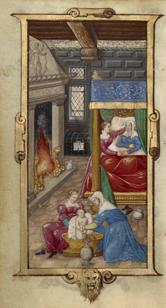 Book of Hours; Unknown, T.D.; 1544; Tempera colors, gold paint, and ink on uterine parchment bound between wood boards covered with dark red morocco; Leaf: 14.3 × 8.1 cm (5 5/8 × 3 3/16 in.); Ms. Ludwig IX 20 (83.ML.116); Rights Statement: No Copyright - United States