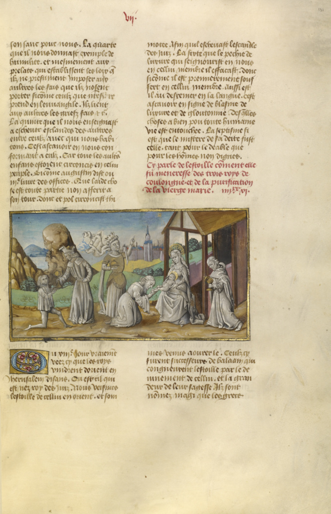 The Adoration of the Magi; Unknown; Ghent, Belgium; about 1475; Tempera colors, gold leaf, and gold paint on parchment; Leaf: 43.8 × 30.5 cm (17 1/4 × 12 in.); Ms. Ludwig XIII 5, v2 (83.MP.148.2), fol. 131; The J. Paul Getty Museum, Los Angeles, Ms. Ludwig XIII 5, v2, fol. 131; Rights Statement: No Copyright - United States