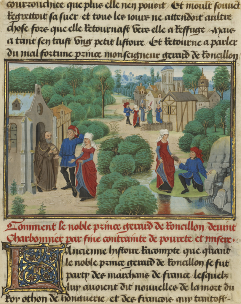 Fifteen Cuttings from Histoire de Charles Martel; Loyset Liédet (Flemish, active about 1448 - 1478), and Pol Fruit (Flemish, active about 1468), David Aubert (Flemish, active 1453 - 1479); written 1463–1465; illuminated 1467–1472; Tempera colors, gold leaf, gold paint, and ink on parchment; Ms. Ludwig XIII 6 (83.MP.149); Rights Statement: No Copyright - United States