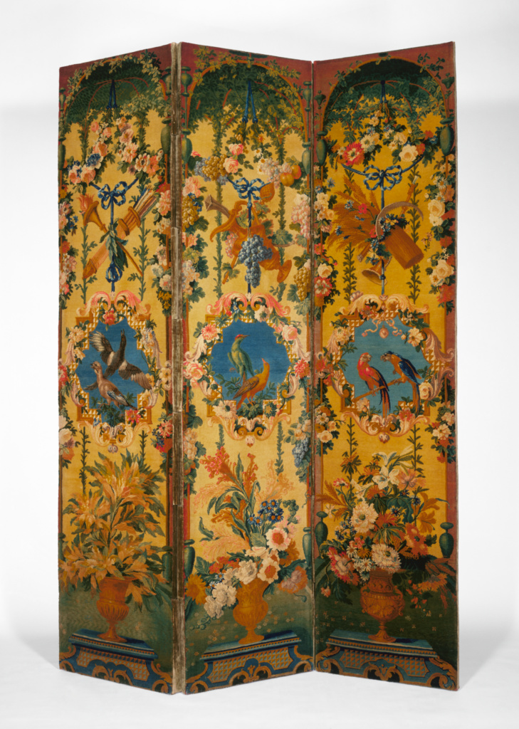 One pair of Screens; Savonnerie Manufactory (French, active 1627 - present), After cartoons by Jean-Baptiste Belin de Fontenay (French, 1653 - 1715), and Alexandre-François Desportes (French, 1661 - 1743); Savonnerie, France; about 1714–1740; Wool and linen; wooden interior frame; cotton twill gimp; modern velvet lining; 273.7 × 193.4 cm (107 3/4 × 76 1/8 in.); 83.DD.260.1; The J. Paul Getty Museum, Los Angeles; Rights Statement: No Copyright - United States