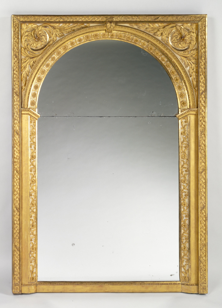 Mirror frame; Unknown; about 1780–1785; Gilded and painted oak; 186.7 × 129.5 cm (73 1/2 × 51 in.); 92.DH.20; Rights Statement: No Copyright - United States