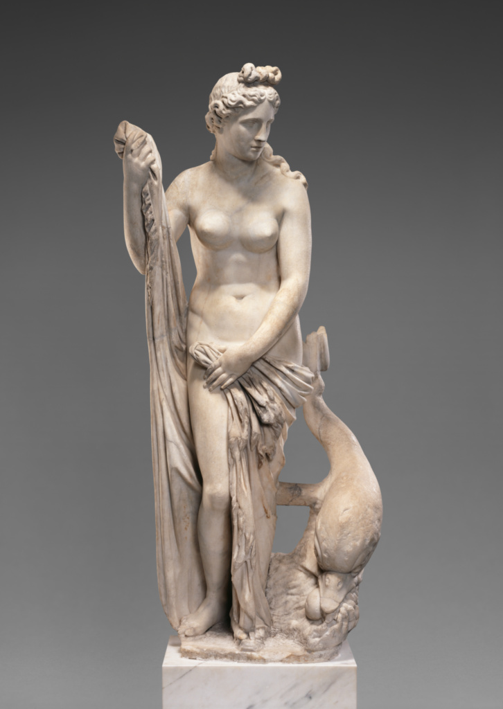 Statue of Venus (the Mazarin Venus); Unknown; Roman Empire; 2nd century A.D.; Marble; 184 cm (72 7/16 in.); 54.AA.11; The J. Paul Getty Museum, Villa Collection, Malibu, California; Rights Statement: No Copyright - United States