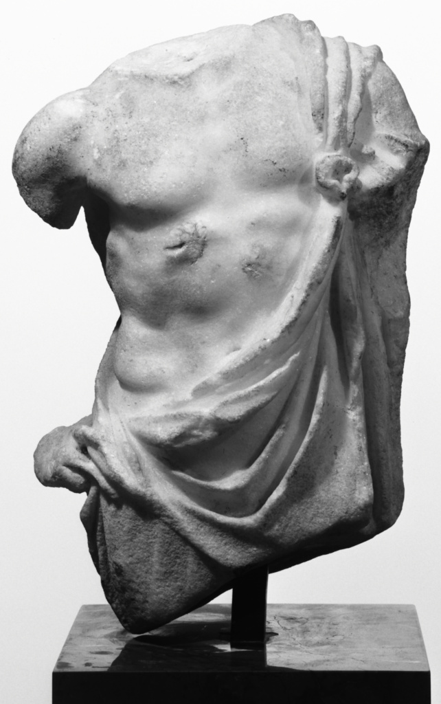 Fragmentary Statue of Asklepios; Unknown; Roman Empire; 1st century A.D.; Marble; 26 cm (10 1/4 in.); 70.AA.102; The J. Paul Getty Museum, Villa Collection, Malibu, California; Rights Statement: No Copyright - United States
