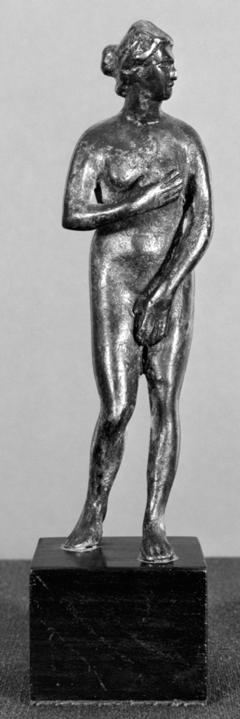Imitation of a Statuette of Venus; Unknown; Europe (?); 18th century; Bronze; 15.5 cm (6 1/8 in.); 70.AK.119; The J. Paul Getty Museum, Villa Collection, Malibu, California; Rights Statement: No Copyright - United States