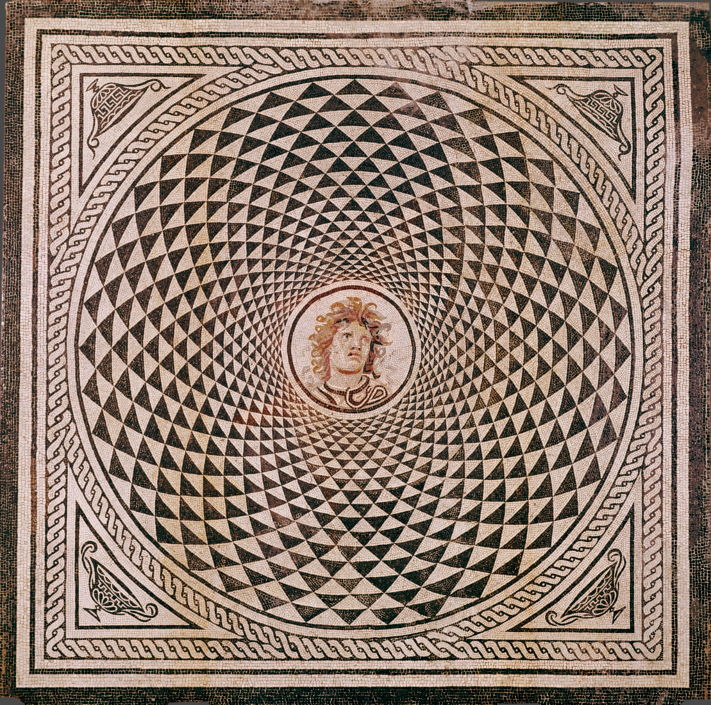 Mosaic Floor With Head Of Medusa Getty Museum