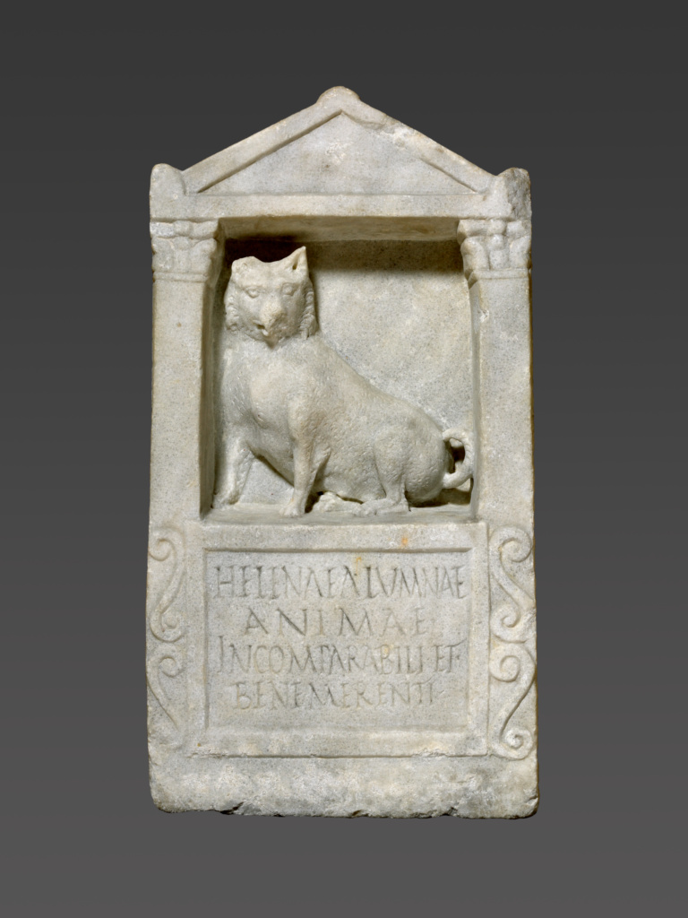 Grave Stele For Helena; Unknown; Roman Empire; A.D. 150–200; Marble; 61 × 31.5 × 16 cm (24 × 12 3/8 × 6 5/16 in.); 71.AA.271; The J. Paul Getty Museum, Villa Collection, Malibu, California; Rights Statement: No Copyright - United States