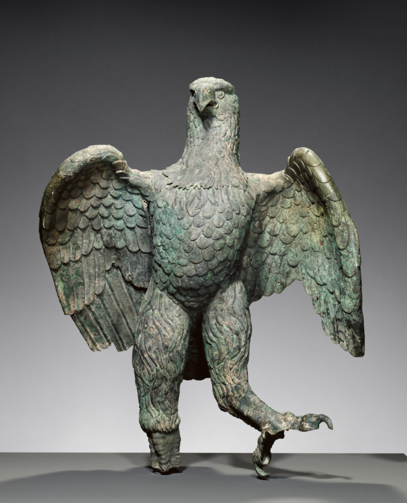Eagle; Unknown; A.D. 100–200; Bronze; 104.2 × 78.7 × 76.2 cm (41 × 31 × 30 in.); 72.AB.151; The J. Paul Getty Museum, Villa Collection, Malibu, California; Rights Statement: No Copyright - United States