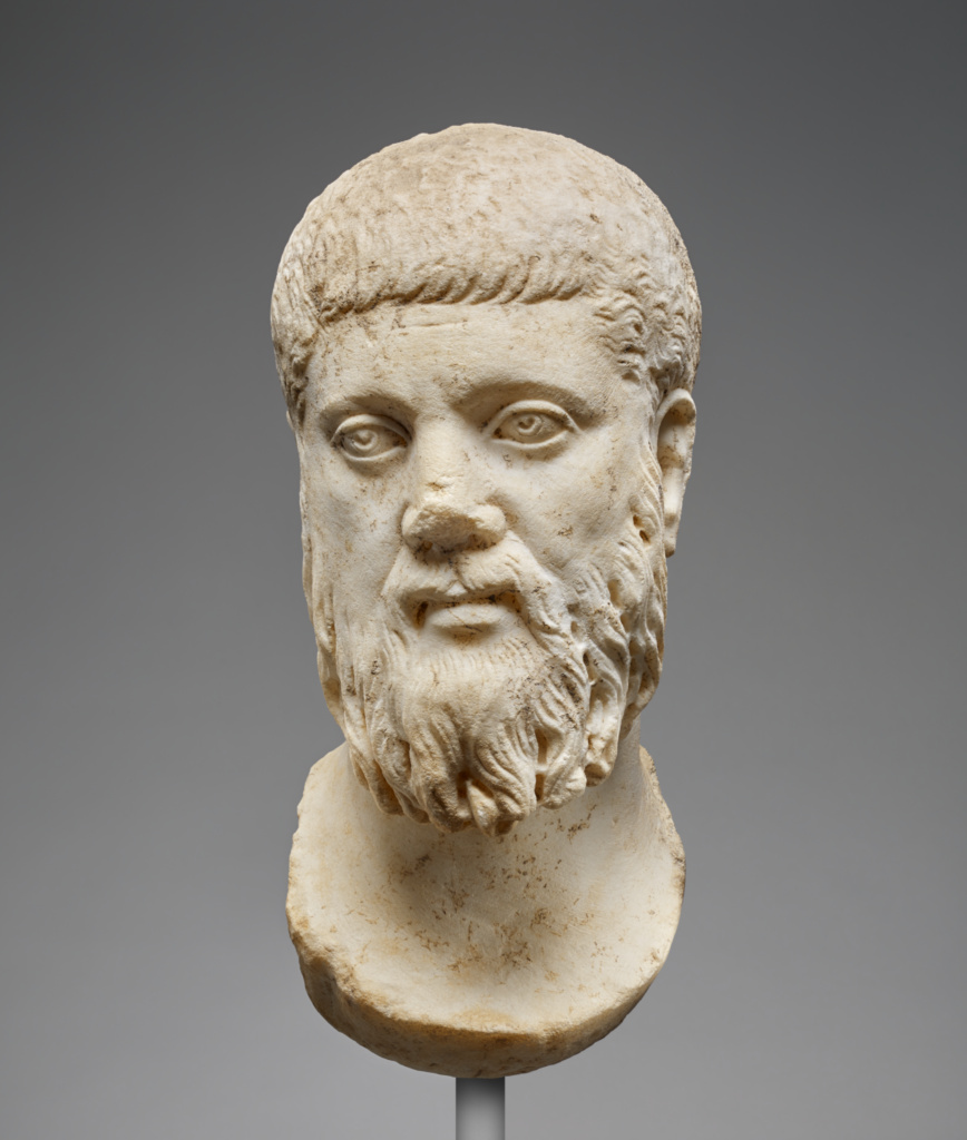Head Of Plato Worked For Insertion Into A Statue Getty