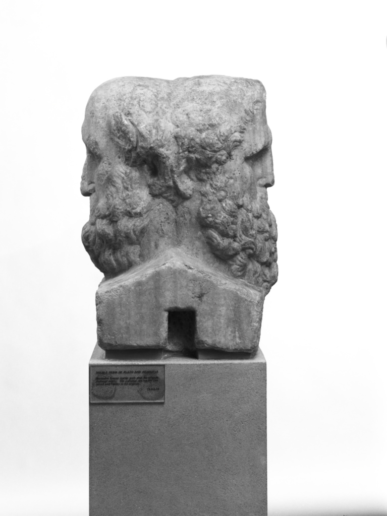 Double portrait herm of aristotle and plato (getty museum).