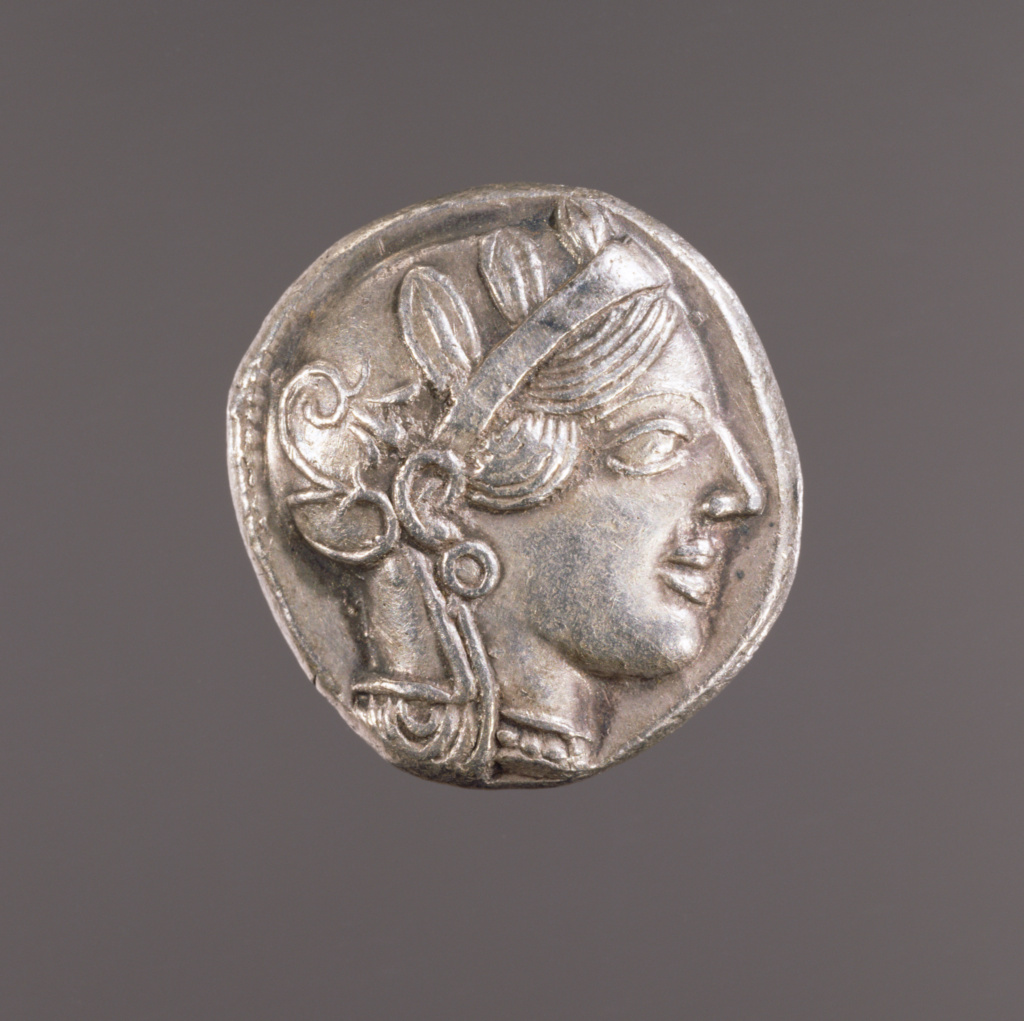 Tetradrachm; Unknown; Athens, Greece; 20th century; Silver; 0.017 kg (0.0375 lb.); 81.NK.4; The J. Paul Getty Museum, Villa Collection, Malibu, California, Gift of Arthur Silver; Rights Statement: No Copyright - United States