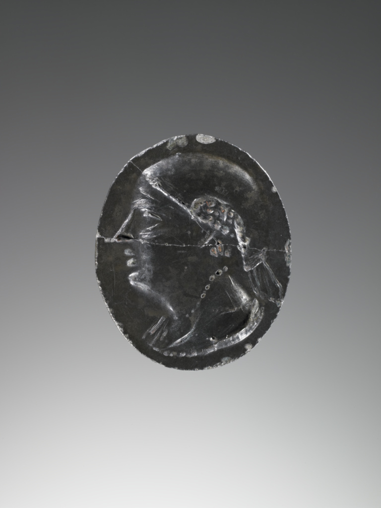 Oval intaglio; Unknown; Egypt; 3rd–2nd century B.C.; Bronze; 2.4 × 2 × 0.3 cm (15/16 × 13/16 × 1/8 in.); 81.AN.76.207; The J. Paul Getty Museum, Villa Collection, Malibu, California; Rights Statement: No Copyright - United States