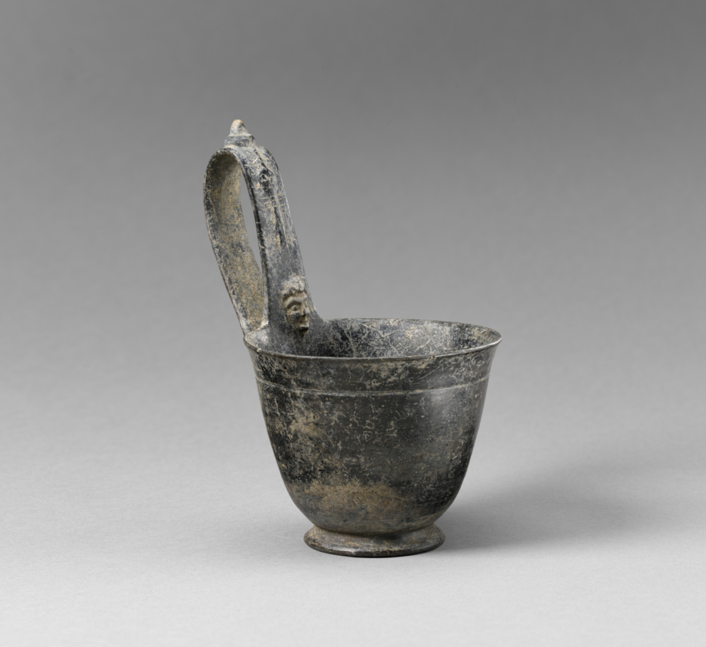 Kyathos with low foot; Unknown; Etruria; 550–525 B.C.; Terracotta; 14.1 × 9.3 cm (5 9/16 × 3 11/16 in.); 81.AE.153.2; The J. Paul Getty Museum, Villa Collection, Malibu, California, Gift of Dr. Elmer F. Belli; Rights Statement: No Copyright - United States