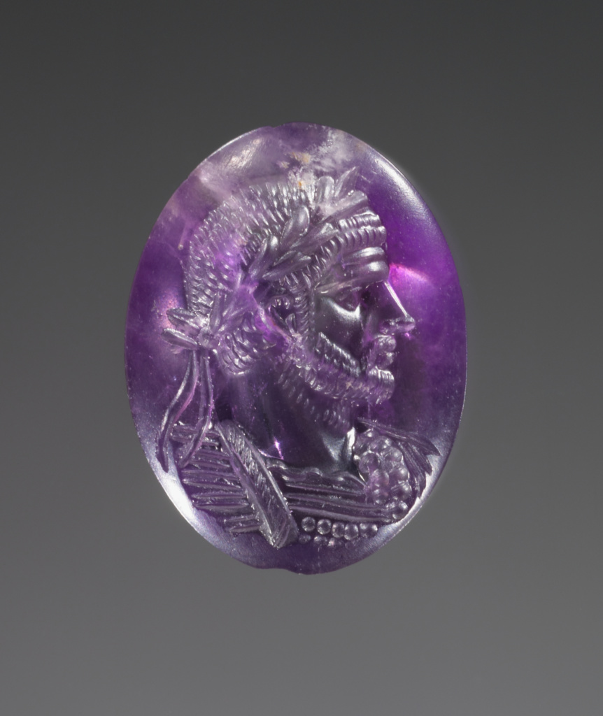 Engraved Portrait of Aurelian; Unknown; Rome (?), Italy; A.D. 260–280; Amethyst; 1.8 × 1.4 × 0.6 cm (3/4 × 9/16 × 1/4 in.); 84.AN.856; The J. Paul Getty Museum, Villa Collection, Malibu, California; Rights Statement: No Copyright - United States