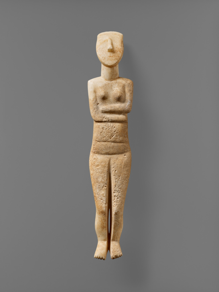 female figure of the early spedos type  getty museum