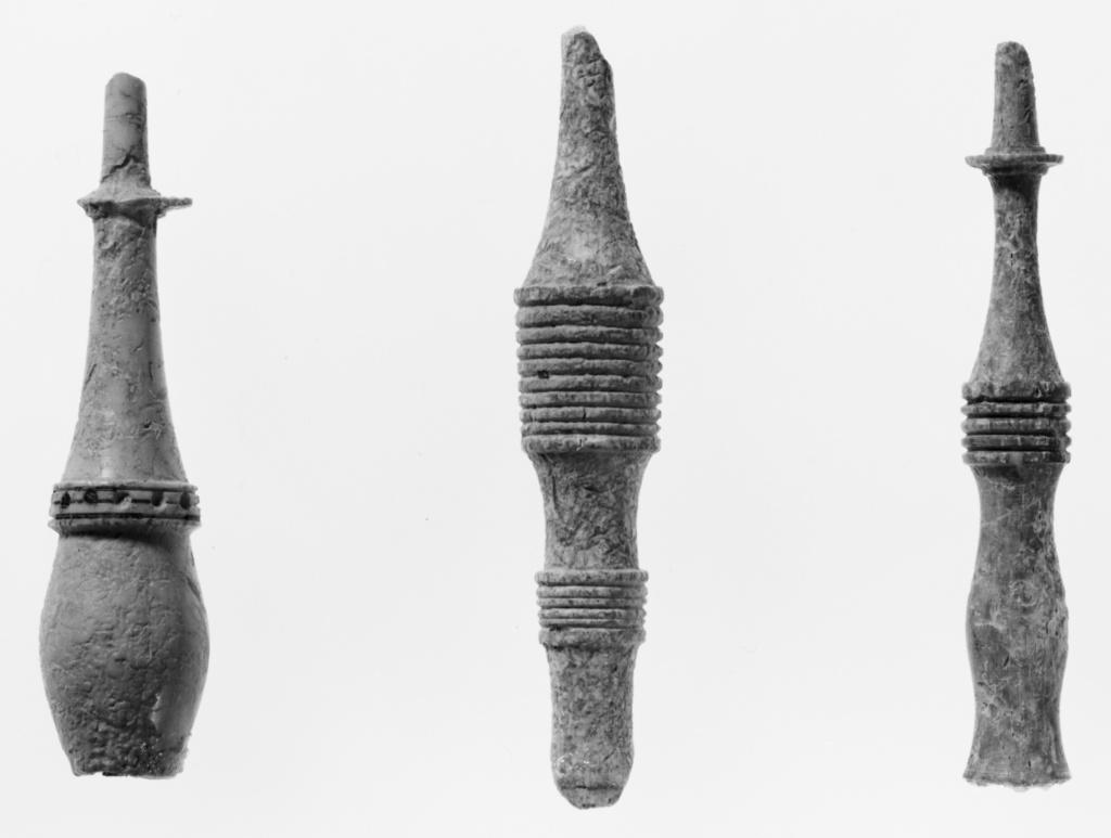 Finial Fragment; Unknown; Greece (?); 6th century B.C.; Bone; 6.3 cm (2 1/2 in.); 81.AI.180.3; The J. Paul Getty Museum, Villa Collection, Malibu, California; Rights Statement: No Copyright - United States