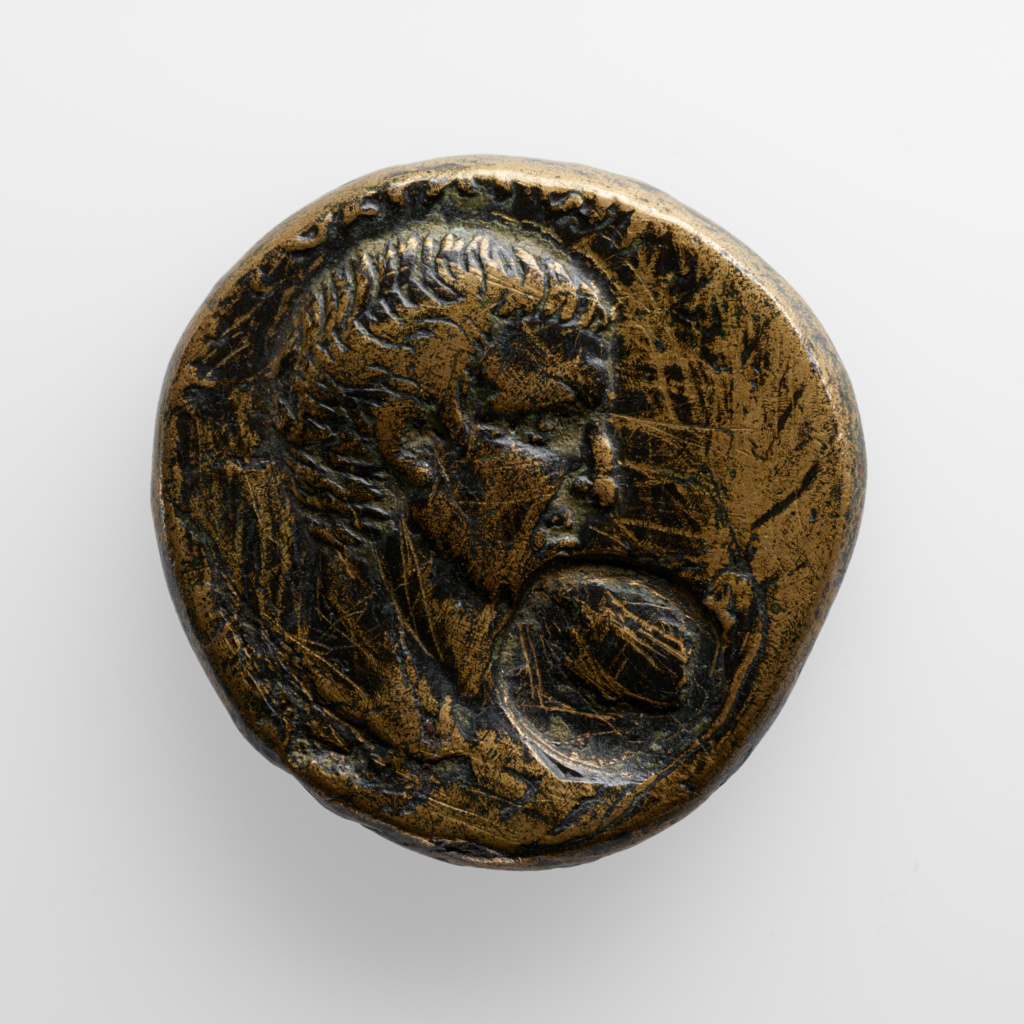 Coin; Unknown; n.d.; Bronze; 80.NH.152.137; Gift of Lily Tomlin; Rights Statement: No Copyright - United States