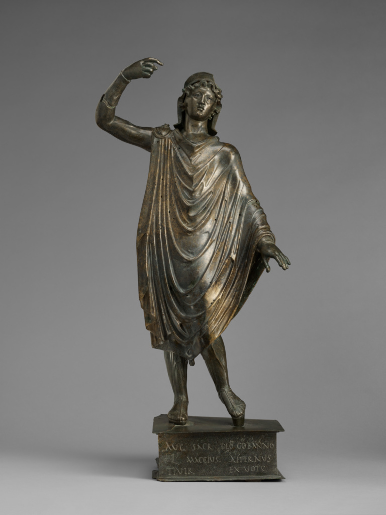 Statuette of Mars-Cobannus; Unknown; Roman Empire; A.D. 125–175; Bronze; 76 × 25 × 18 cm (29 15/16 × 9 13/16 × 7 1/16 in.); 96.AB.54; The J. Paul Getty Museum, Villa Collection, Malibu, California; Rights Statement: No Copyright - United States