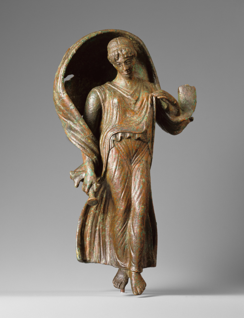 Luna; Unknown; Roman Empire; 100 B.C.–A.D. 100; Bronze; 25.4 × 10 × 8 cm (10 × 3 15/16 × 3 1/8 in.); 96.AB.38; The J. Paul Getty Museum, Villa Collection, Malibu, California; Rights Statement: In Copyright; Image: Bruce White Photography
