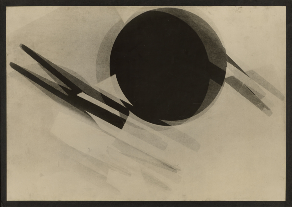 Der Spiegel. Fotogram Nr. 1; László Moholy-Nagy (American, born Hungary, 1895 - 1946); Germany; negative 1922–1923; print about 1928; Gelatin silver print; 66.8 × 92.1 cm (26 5/16 × 36 1/4 in.); 84.XF.450; The J. Paul Getty Museum, Los Angeles; Rights Statement: In Copyright; Copyright: © 2014 Estate of László Moholy-Nagy / Artists Rights Society (ARS), New York