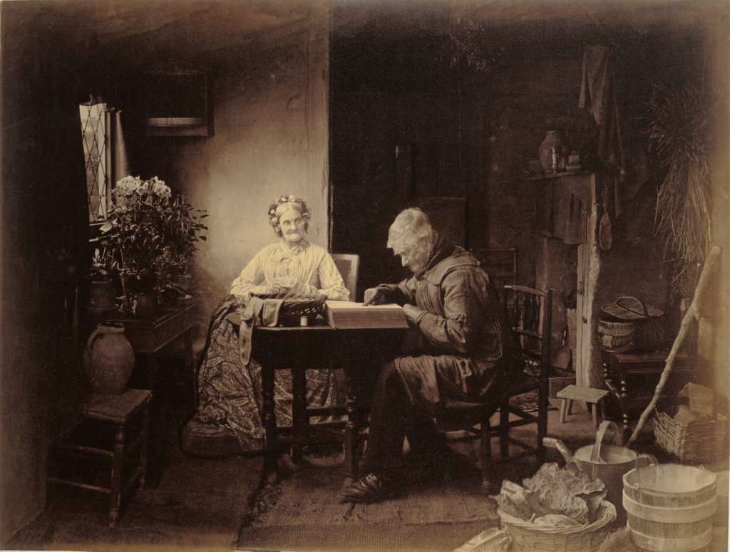 When the Day's Work Is Done; Henry Peach Robinson (British, 1830 - 1901); London, England; 1877; Albumen silver print; 56 × 74.5 cm (22 1/16 × 29 5/16 in.); 84.XM.898; The J. Paul Getty Museum, Los Angeles; Rights Statement: No Copyright - United States