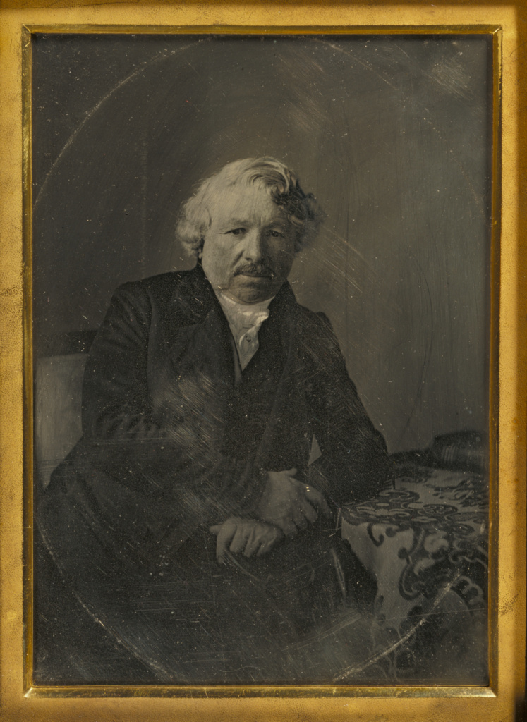 Portrait of Louis-Jacques-Mandé Daguerre; Charles Richard Meade (American, 1826 - 1858); 1848; Daguerreotype, hand-colored; 15.7 × 11.5 cm (6 3/16 × 4 1/2 in.); 84.XT.953; Rights Statement: No Copyright - United States