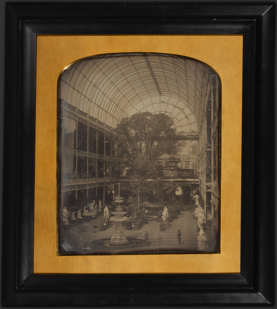 The Crystal Palace at Hyde Park, London; John Jabez Edwin Mayall (English, 1813 - 1901); London, England; 1851; Daguerreotype; 30.5 × 24.6 cm (12 × 9 11/16 in.); 84.XT.955; The J. Paul Getty Museum, Los Angeles; Rights Statement: No Copyright - United States