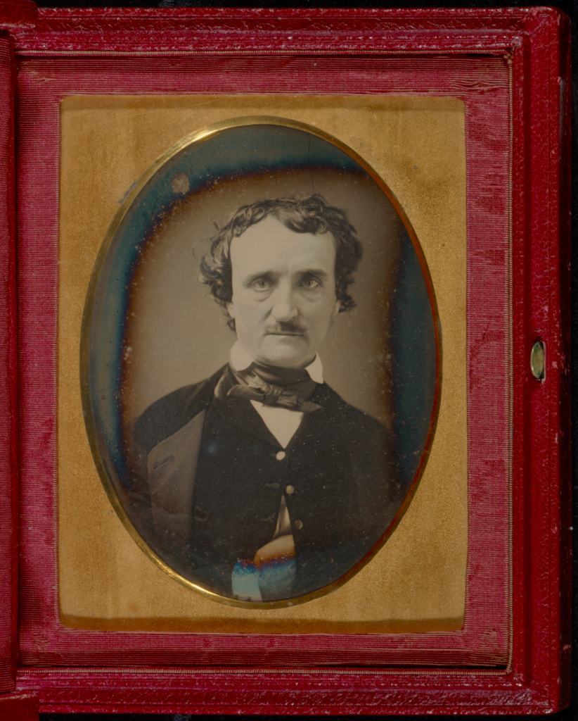 Portrait of Edgar Allan Poe; Unknown maker, American; late May–early June 1849; Daguerreotype; 12.2 × 8.9 cm (4 13/16 × 3 1/2 in.); 84.XT.957; The J. Paul Getty Museum, Los Angeles; Rights Statement: No Copyright - United States