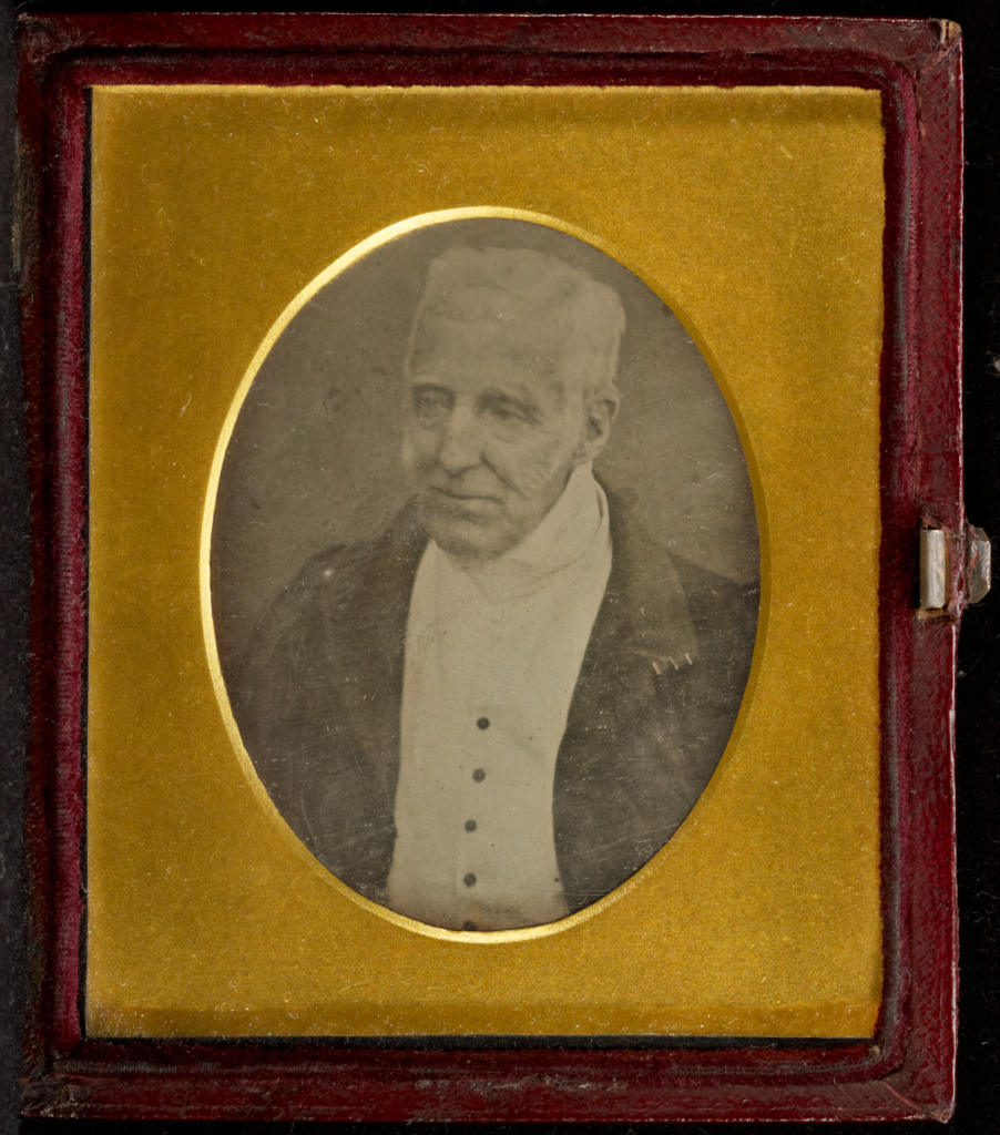 [Portrait of the Duke of Wellington]; Antoine Claudet (French, 1797 - 1867); May 1, 1844; Daguerreotype; 7.8 × 6.4 cm (3 1/16 × 2 1/2 in.); 85.XT.449; Gift of Dana Broccoli; Rights Statement: No Copyright - United States