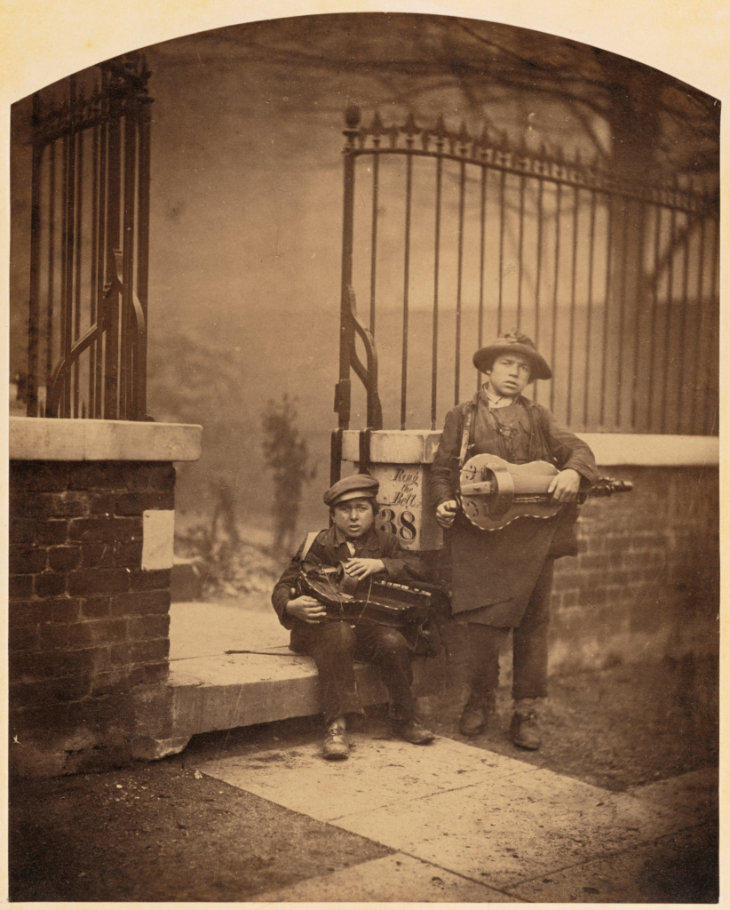 [Les Petits Savoyards (Street Musicians)]; Camille Silvy (French, 1834 - 1910); about 1860; Albumen silver print; 27.9 × 22.2 cm (11 × 8 3/4 in.); 85.XM.516; The J. Paul Getty Museum, Los Angeles; Rights Statement: No Copyright - United States