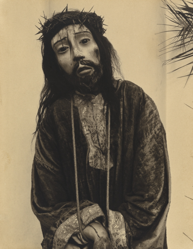 Cristo with Thorns, Huexotla, Mexico; Paul Strand (American, 1890 - 1976); 1933; Platinum print; 24.8 × 19.2 cm (9 3/4 × 7 9/16 in.); 87.XM.149; Rights Statement: In Copyright; Copyright: © Aperture Foundation