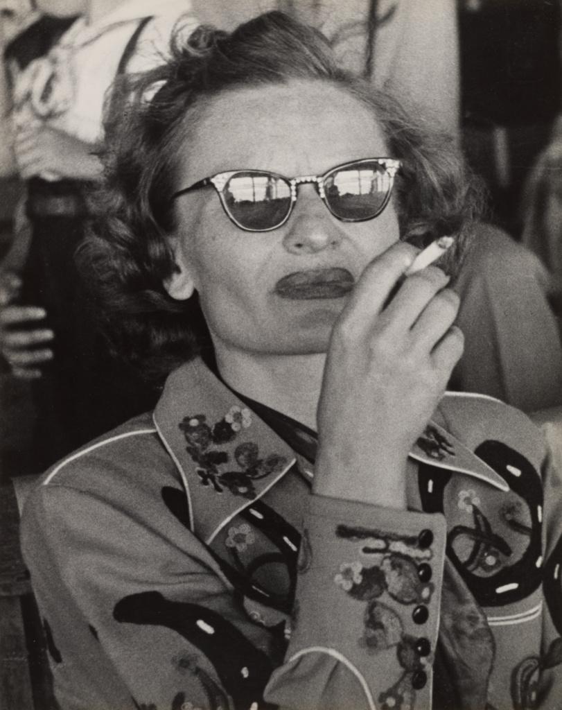 [Divorcée, Reno]; Lisette Model (American, born Austria, 1901 - 1983); 1949; Gelatin silver print; 34.1 × 27 cm (13 7/16 × 10 5/8 in.); 84.XM.153.63; The J. Paul Getty Museum, Los Angeles; Rights Statement: In Copyright; Copyright: © Estate of Lisette Model, courtesy Baudoin Lebon/Keitelman
