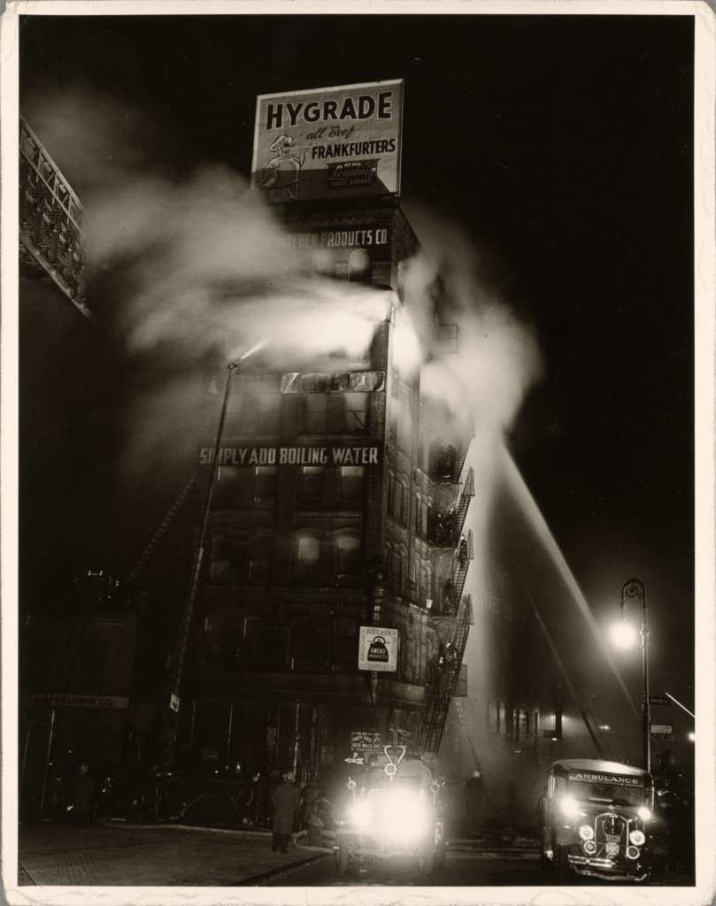 Simply Add Boiling Water; Weegee (Arthur Fellig) (American, born Austria, 1899 - 1968); New York, New York, United States; negative December 19, 1943; print about 1950; Gelatin silver print; 33.7 × 26.3 cm (13 1/4 × 10 3/8 in.); 84.XM.190.33; The J. Paul Getty Museum, Los Angeles; Rights Statement: In Copyright; Copyright: © International Center of Photography
