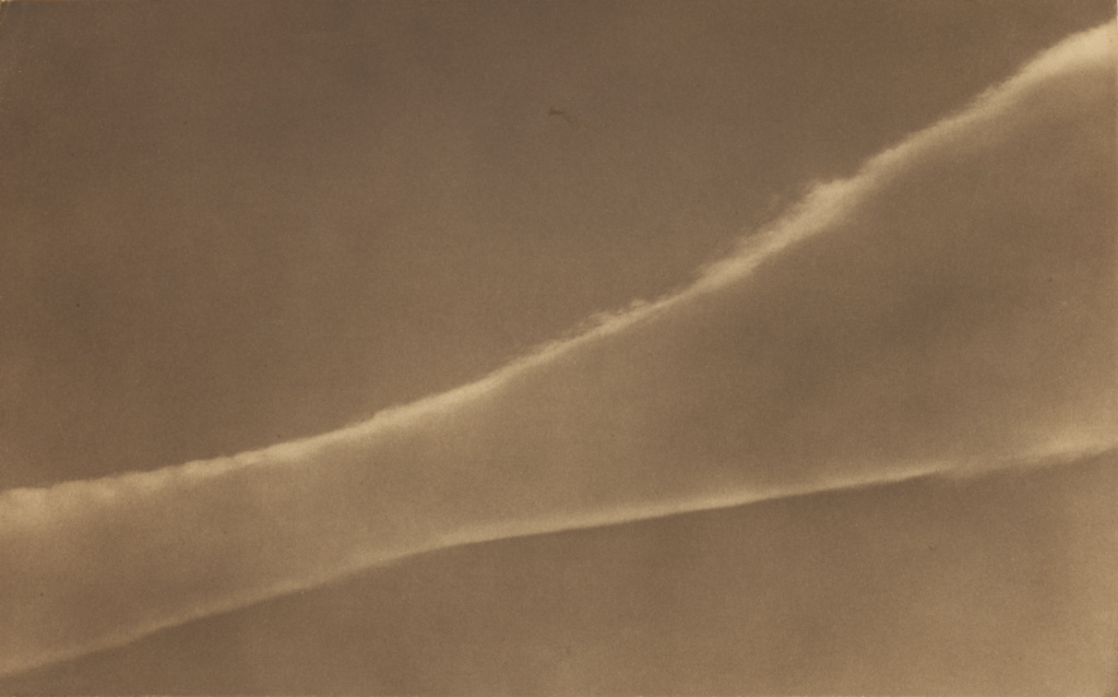 Cloud, Mexico; Edward Weston (American, 1886 - 1958); Mexico; 1926; Palladium print; 14.9 × 24 cm (5 7/8 × 9 7/16 in.); 84.XM.229.24; The J. Paul Getty Museum, Los Angeles; Rights Statement: In Copyright; Copyright: © 1981 Arizona Board of Regents, Center for Creative Photography